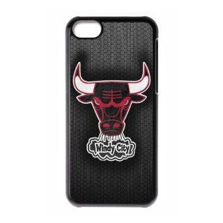 Custom Chicago Bulls Cover Case for iPhone 5C W5C 910 Cell Phones & Accessories