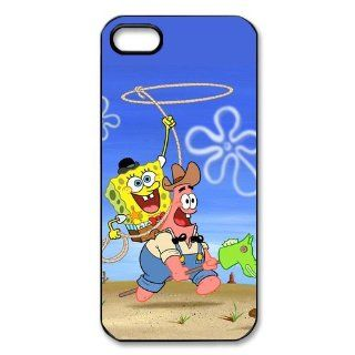 AZA Hard Case for iPhone 5, Spongebob Squarepants Patrick Star Protective iPhone Cover Black/White Cell Phones & Accessories