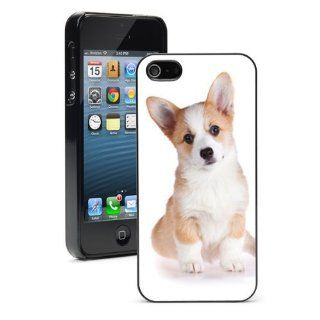 Apple iPhone 4 4S 4G Black 4B453 Hard Back Case Cover Color Cute Corgi Puppy Dog Cell Phones & Accessories