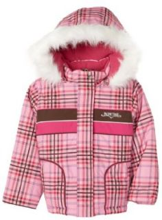 Pacific Trail Kids Girls Youth Plaid Jacket, Pink, 4 Outerwear Clothing