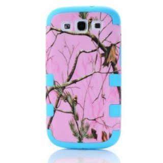 SUPWISER Special Pink Tree Branches Hybird 2 layers Hard Soft Silicone Back Skin Case Cover Fit for Galaxy S3 I9300 SKy Blue Color Cell Phones & Accessories