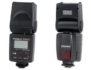 OnceAll YONGNUO YN 468II Flash Speedlite with TTL Display for Nikon & Canon Cameras (Black) Cell Phones & Accessories