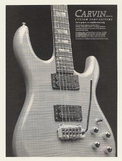 1996 Carvin Custom Shop Guitar Print Ad (47984)