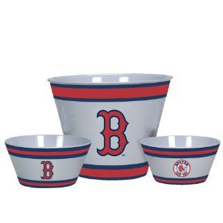 MLB Boston Red Sox Melamine Serving Set  Sports Fan Bowls  Sports & Outdoors