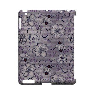[Geeks Designer Line] Floral Stripes Hint of Purple Apple iPad 2nd Gen Plastic Case Cover [Anti Slip] Supports Premium High Definition Anti Scratch Screen Protector; Durable Fashion Snap on Hard Case; Coolest Ultra Slim Case Cover for iPad 2nd Gen Supports