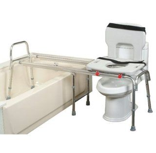 Eagle Health XX Long Toilet to Tub Transfer Bench with Cut Out Seat   XX Long Toilet to Tub Transfer Bench with Cut Out Seat Health & Personal Care