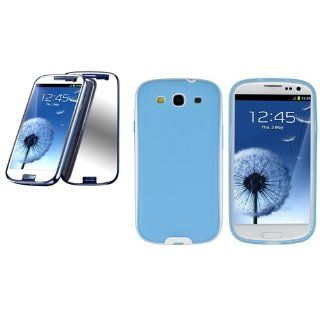 CommonByte SKY BLUE Slim Color TPU Soft Case+Mirror Protector for Samsung i9300 Galaxy S3 Cell Phones & Accessories
