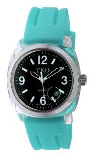 TKO ORLOGI Women's TK508 BT Milano Plastic Case and Turquoise Rubber Strap Watch at  Women's Watch store.