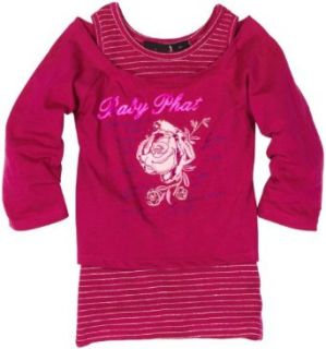 Baby Phat   Kids Girls 7 16 Rose Graphic Top, Dark Pink, Small Fashion T Shirts Clothing