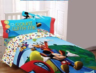 Disneys Mickey Mouse Clubhouse Full Comforter Kids Bedding Count With Me 1 2 3 Baby