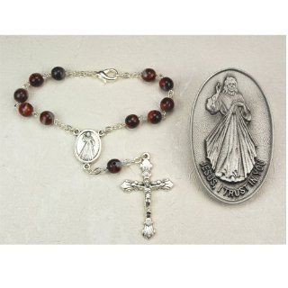 Catholic & Religious Divine Mercy Auto Rosary and Auto Visor Clip Set, Car Vehicle in Box. Jewelry