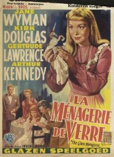The Glass Menagerie 1950 Original Belgium Poster Irving Rapper Jane Wyman Jane Wyman, Kirk Douglas, Gertrude Lawrence, Arthur Kennedy Entertainment Collectibles