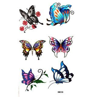 GGSELL King Horse Waterproof colorful tattoo stickers insects butterfly Toys & Games