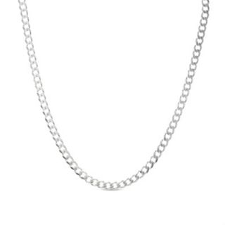 Mens Stainless Steel 6.7mm Pavé Curb Chain Necklace   22   Zales