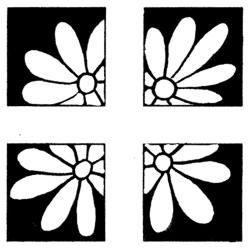 Penny Black Floral Square Rubber Stamp Penny Black Wood Stamps