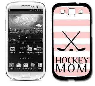 Hockey Mom Baby Pink Stripes Cute Hipster Samsung Galaxy S3 SIII i9300 Case Fits Samsung Galaxy S3 SIII i9300 Cell Phones & Accessories