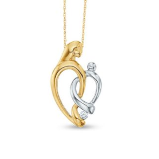 pendant in 10k two tone gold orig $ 219 00 174 99 add to bag