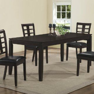 Monarch Veneer Dining Table, 36 by 60 by 78 Inch, Cappuccino   Wood Dining Chairs