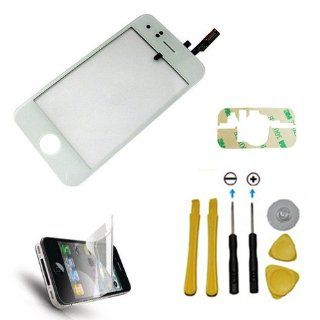 YB Planet iPhone 3G Digitizer Glass Screen Replacement WHITE + Screen Protector + 3M Pre Cut Adhesive + Complete Seven Piece Tool Kit Cell Phones & Accessories