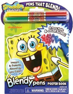 Poof slinky Blendy Pens Poster Book spongebob 3 Pack