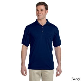 Gildan Gildan Mens Dry Blend Jersey Polo Shirt Navy Size 3XL
