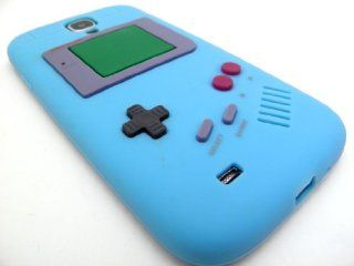 BABY BLUE GAMEBOY Soft Silicone Rubber Skin Cover Case for Samsung Galaxy S4 IV i9500 In Twisted Tech Retail Packaging Cell Phones & Accessories