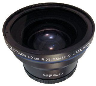 Zeikos ZE 543R 0.43X high definition Super Wide Angle lens with Super Macro, includes lens pouch and cap covers (Life Time Warranty) Fits 52/55/58/62/67/72mm  Camera Lenses  Camera & Photo