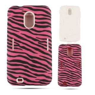 DOUBLE ARMOR COVER FOR SAMSUNG GALAXY SII EPIC 4G TOUCH HARD SOFT CASE SKIN 03 TE544 ZEBRA D710 CELL PHONE ACCESSORY Cell Phones & Accessories
