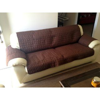 Innovative Textile Microfiber Sofa Furniture Protector, Chocolate   Sofa Slipcovers