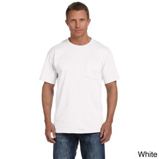 Fruit Of The Loom Fruit Of The Loom Mens Heavyweight Cotton Chest Pocket T shirt White Size XXL