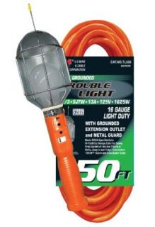 US Wire TL550 16/3 50 Foot SJTW Orange Trouble Light with Metal Cage   Portable Work Lights