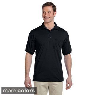 Gildan Gildan Mens Dry Blend Jersey Polo Shirt Black Size S