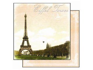 Best Creation 12 by 12 Inch Glitter Paper, Eiffel Tower Designs, Case Packed, 25 Sheets