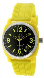 TKO ORLOGI Unisex TK561 YL Milano Jr. Yellow Plastic Case and Textured Rubber Strap Watch Watches
