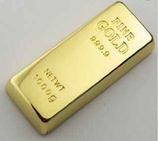 High Quality 16gb Cool Gold Bar Style USB Flash Drive Computers & Accessories