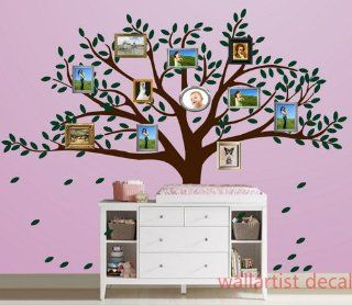 Family Photo Frame Big Tree Leaf Leaves Falling Frames Home House Art Decals Wall Sticker Vinyl Wall Decal Stickers Baby Livng Bed Room 568