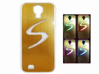 Flash Light LED Color Changing Luxury Case Skin Cover for Samsung Galaxy S4 i9500 Golden Cell Phones & Accessories