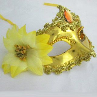 Melody Rhinestone Masquerade Party Mask   Venetian Party Mask   Costume Ball, Fancy Dress up Mask   for Girls Night Out   Gold   Decorative Masks
