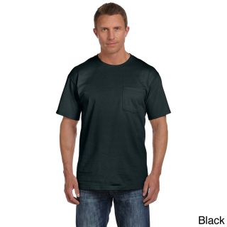 Fruit Of The Loom Fruit Of The Loom Mens Heavyweight Cotton Chest Pocket T shirt Black Size XXL
