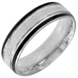 cut stainless steel band with black ion plated stripes orig $ 49 00