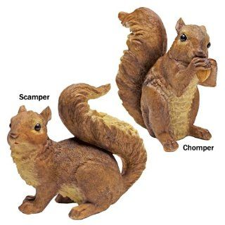 ON SALE Woodland Squirrel Statue Set  Outdoor Statues  Patio, Lawn & Garden