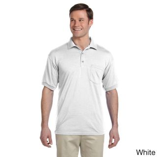 Gildan Gildan Mens Dry Blend Jersey Polo Shirt White Size 3XL