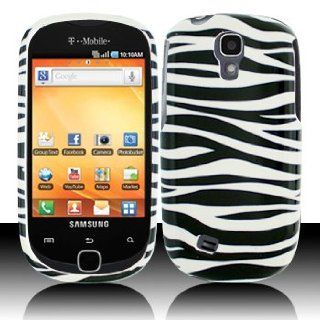 For T Mobil Samsung Gravity Smart T589 Accessory   White Black Zebra Design Hard Protective Hard Case Cover Cell Phones & Accessories