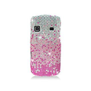 Samsung Replenish M580 SPH M580 Bling Gem Jeweled Jewel Crystal Diamond Pink Silver Waterfall Cover Case Cell Phones & Accessories