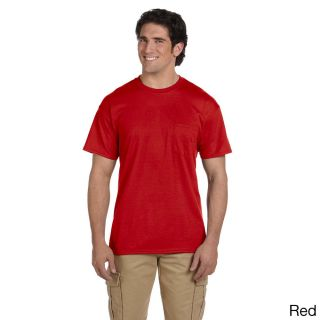 Gildan Mens Dry Blend Pocket T shirt Red Size L