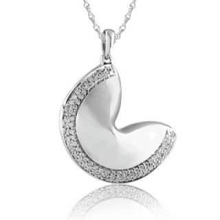 CT. T.W. Diamond Fortune Cookie Pendant in Sterling Silver   Zales