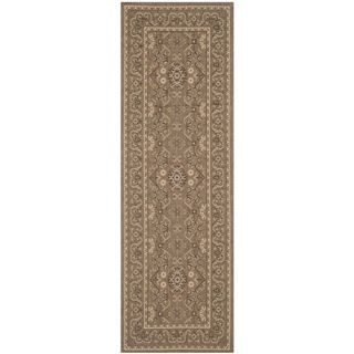 Safavieh Indoor/ Outdoor Courtyard Brown/ Cream Rug (27 X 82)