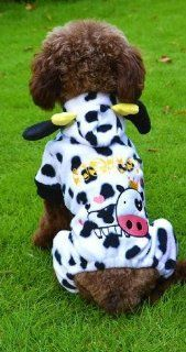 Cow or Giraffe Dress up Halloween and Christmas Costume Outfit for Dog (cow, XXL)  Pet Coats