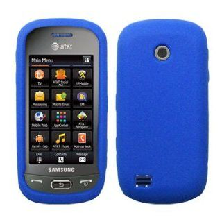 Blue Silicone Skin / Case / Cover for Samsung Eternity II / SGH A597 Cell Phones & Accessories