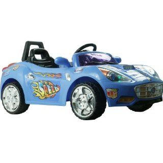 EZ Riders Super Sport Battery Operated Sports Car with Remote Blue Toys & Games